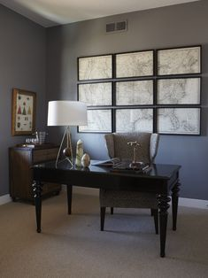 """Single print broken into multiple frames - as """"large art"""" of headboard. St. George Parade of Homes – The Ferrara at Brookhaven Fields"""