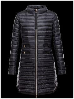 doudoune femme moncler AUBRY manteau hiver col noir