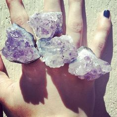Amethyst Druzy Cluster Ring // Jewelry by ShopNativeHearts on Etsy, $18.00