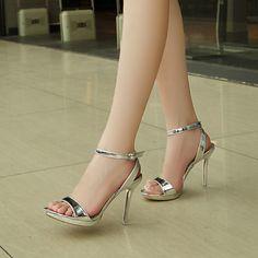 Fancy Shoes, Pretty Shoes, Beautiful Shoes, Pumps Heels, Stiletto Heels, Open Toe High Heels, Leather High Heels, Prom Shoes, Fashion Heels