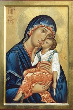 A Glykophilousa Icon of the Theotokos / Lo Scriptorium Religious Images, Religious Icons, Religious Art, Blessed Mother Mary, Madonna And Child, Orthodox Icons, Christianity, Art For Kids, Artwork