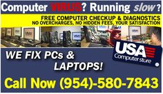 ad for pc repair broward