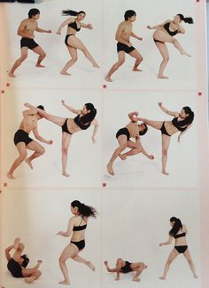 AnatoRef | Moment continuous shooting action poses 03 heroine...