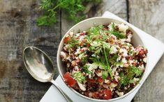 Quinoasalade met feta en bloemkool
