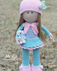 Adorable Crochet Molly Doll - Free Pattern | Crochet dolls free ... | 295x236