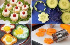 coole Party-Essen-Ideen mit blumenmotiv