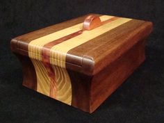 Black Walnut, Sassafras And Red Cedar Keepsake Box
