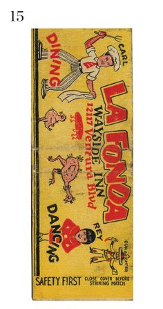 La Fonda Wayside Inn #matchbook cover Order your business' own advertising #matches at GetMatches.com