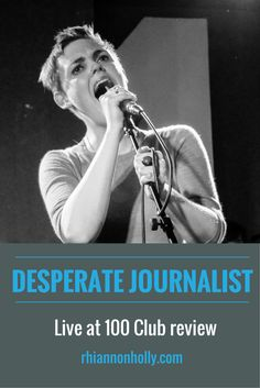 #DesperateJournalist played a soaring set and proved they're a band on the rise when they launched their new single at #100Club. Read the review on #soundandfiction