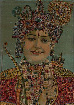 Ravi Varma Press - Shri Ramchandraji | Embellished oleograph on paper | Tastemaker: Cyrus Oshidar | The Story