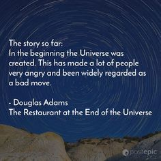 "quote from the book ""The Restaurant at the End of the Universe"" by Douglas Adams"