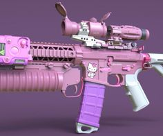 """Now THAT is a gun."""" She smirks wickedly, picking the weapon up."""