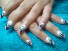 Individual design for a client. Acrylic nails