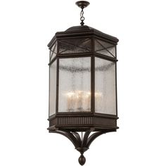36 Inch W Newquay Hanging Lantern Pendant - Custom Made