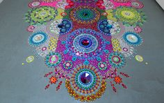 New Ornate Kaleidoscopic Installations That Mimic Patterned Textiles by Suzan Drummen