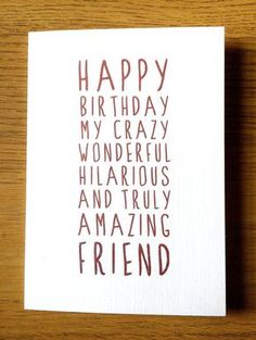 Sweet Description Happy Birthday Friend by LittleMushroomCards More