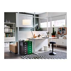 HELMER Drawer unit on casters - gray - IKEA.  The dark gray and green drawer units are only $39 each and come in a variety of colors.