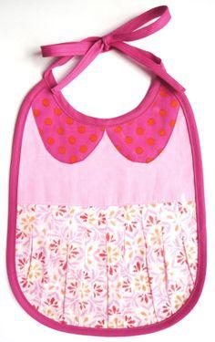 Bavoir robe col claudine rose en tissu et par BibiPirouette sur Etsy, €19.00 Bavoir plastifié anti tache pratique pour la vie de tous les jours comme pour les grandes occasions.