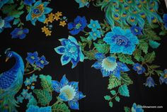 peacock fabric - Google Search Peacock Fabric, Peacock Feathers, Peacocks, Metallic Gold, Gold Accents, Designer Collection, Cotton Fabric, Asia, Birds
