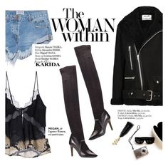 """""""The woman within"""" by punnky ❤ liked on Polyvore featuring Acne Studios, Fratelli Karida, OneTeaspoon, Woman Within, Roberto Cavalli and Haute Hippie"""
