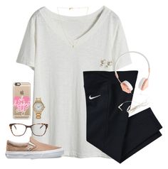 """he's not perfect, but he's all I want."" by kaley-ii ❤ liked on Polyvore featuring NIKE, Vans, Prism, Casetify, J.Crew, Sydney Evan and Forever 21"