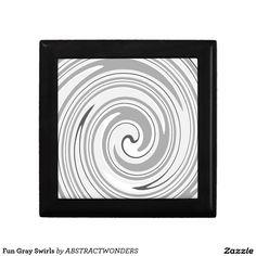Fun Gray Swirls Gift Box