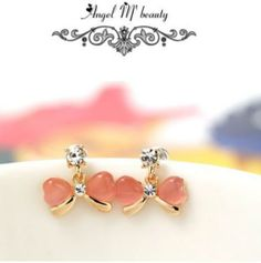 A lil touch of pink!! Fashion Bowknot Stud Earrings