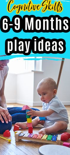 Do you know what to expect when it comes to cognitive development from 6-9 months?  Use these baby play ideas to encourage skills while having fun with your baby. Infant Play, Baby Play, Communication Activities, Play Ideas, Baby Games, 9th Month, Baby Milestones, Cool Baby Stuff, Games To Play
