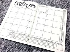 Bullet Journal Layout - October 2016: Spread template downloads, videos, and more at bulleteverything.com