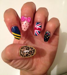 Girl Band Nails by Michelle Humphrey @ LMC Worldwide - Spice Girls