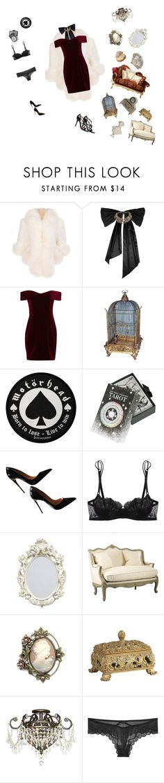 """Untitled #48"" by lavender-lace ❤ liked on Polyvore featuring Oscar de la Renta, Nicholas, The Wild Unknown, Christian Louboutin, La Perla, Guide London, Sweet Romance, Shabby Chic, Crystorama and Victoria's Secret"