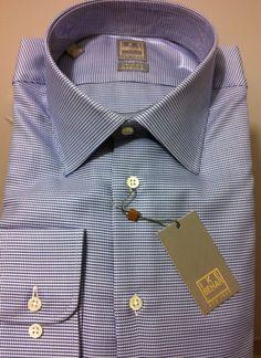 NWT$245+tax  IKE BEHAR New York Premium luxury Gorgeous Dress Shirt 16 ,32/33 #IkeBehar