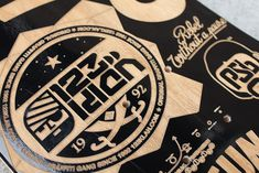 ENGRAVED BOARDS FOR AGAINST THE GRAIN SHOW by 123KLAN , via Behance