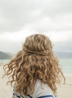 half braided half curly hairdos | Women Hairstyles Ideas