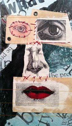 "Mixed Media Collage Painting | ""Will I Be Pretty"" 