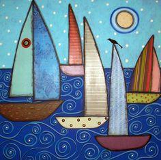 5 Sailboats and a Bird: Karla Gerard
