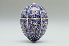 The Twelve Monogram Egg, or Alexander III Portraits Egg, Fabergé, 1896. Photo courtesy of Patrick Mark/Arts Alliance