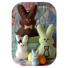 In The Hoop :: Softie Toys :: Marshmallow Bunny Softies - Embroidery Garden