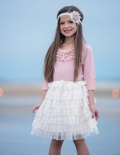 Sweet and Sassy Tiered Tulle Skirt - 3 colors available Flower Girl Dresses Country, Flower Girl Tutu, Lace Flower Girls, Tutu Skirts, Lace Weddings, Tulle Dress, Dress For You, Sassy, Kids Fashion