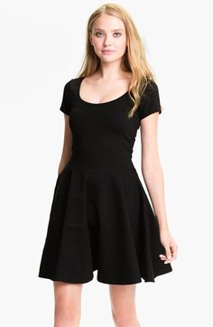 ponte fit & flare dress / felicity & coco @nordstrom
