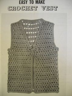 Easy Crochet Vest Pattern   Recent Photos The Commons Getty Collection Galleries World Map App ...