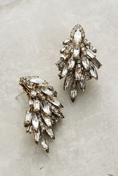 Elizabeth Cole Ice Palace Drops, wedding, bride statement earrings, bling, rhinestones, crystals, elopement