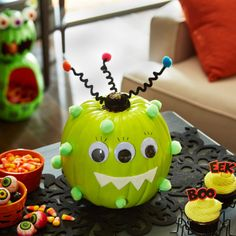 Make this easy no carve adorable Monster Pumpkin to delight kids of all ages this Halloween