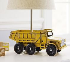 Dump Truck Base | Pottery Barn Kids --> Inspiration for fire truck lamp I want Bryan to build for Ev