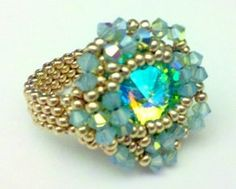 Make a statement on your hand with this awesome cocktail ring! The color combinations are endless. Get ready to receive compliments! Make them to go with jeans or evening wear; and even give them as gifts!