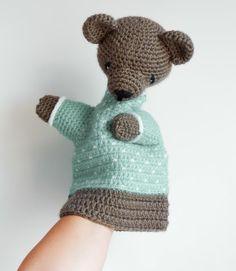 CROCHET PATTERN - teddy bear puppet