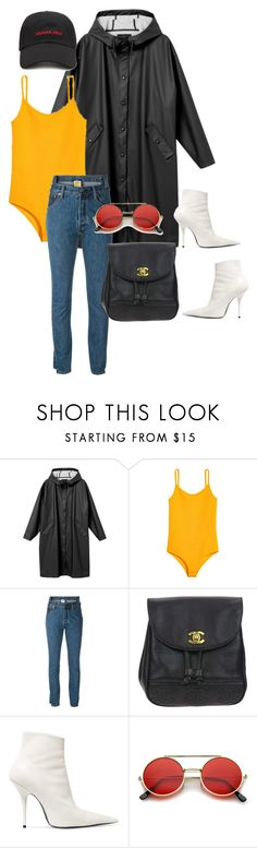"""mannequinxo x my lil honey dip .. riri"" by xxxthebombshellfactoryxxx ❤ liked on Polyvore featuring Monki, Vetements, Chanel, Balenciaga, ZeroUV and Forever 21"