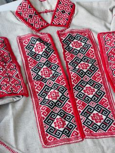 Traditional embroidered 'sorochka', or shirt, in a style and with motifs popular in the Horodenka and Snyatyn regions of Carpathian Western Ukraine. (Hand embroidered and assembled by Dave Melnychuk)