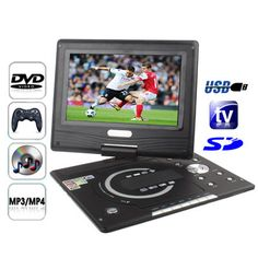 [$89.52] 11.1 inch TFT LCD Screen Portable DVD with Card Reader & USB Port, Support Analog TV (PAL/NTSC) & Game & 270 Degree rotating function (968X)(Black)