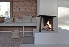 time of the aquarius: Fireplace // before-after